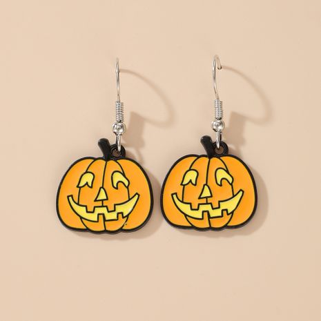 Halloween pumpkin earrings ghost demon earrings wholesale NHGY255888's discount tags