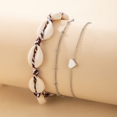 new simple shell anklet 3-piece set  NHGY305990's discount tags