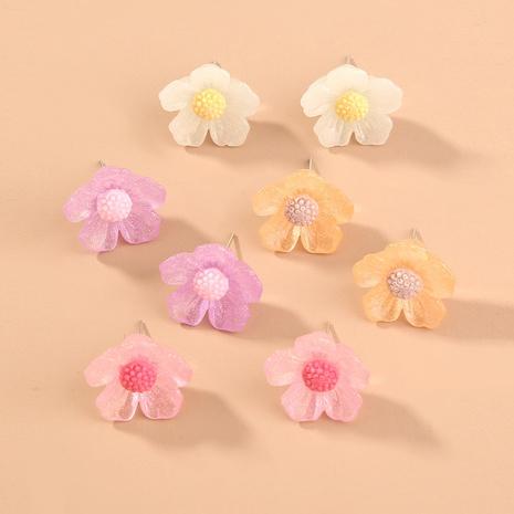 Mode neuen Trend einfache mehrfarbige Blumenohrringe NHAN306000's discount tags