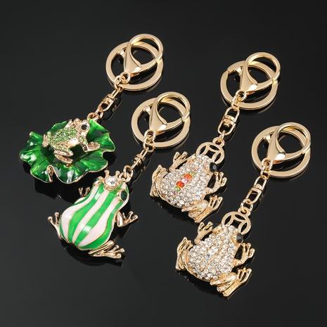 porte-clés grenouille de bande dessinée de diamant d'alliage NHJE306027's discount tags