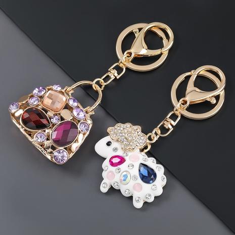 porte-clés de sac à main de moto de cheval de diamant d'alliage NHJE306028's discount tags
