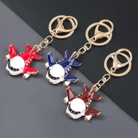 porte-clés d'avion de dessin animé de diamant d'alliage NHJE306030's discount tags