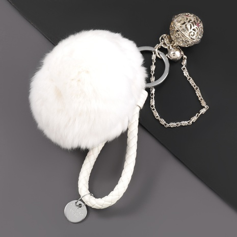 alloy bell hair ball keychain  NHJE306031's discount tags