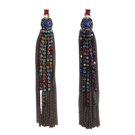 Bohemian long tassel earrings  NHJQ306074's discount tags