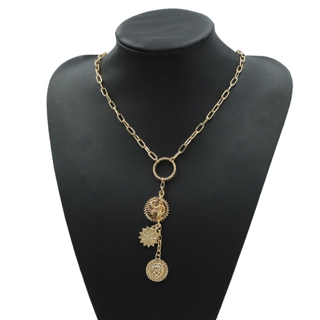Retro Roman Gold Coin Pendant Necklace  NHJQ306075's discount tags