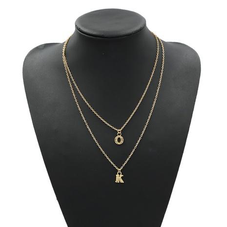 letter K pendant diamond fashion necklace  NHJQ306126's discount tags