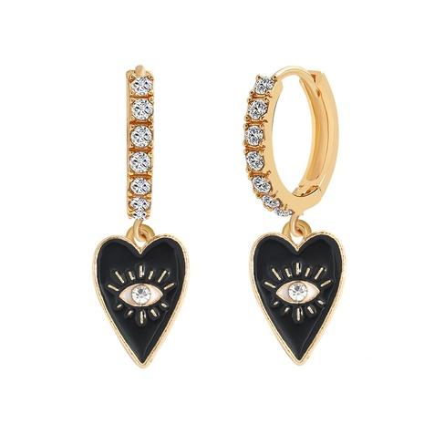 peach heart demon eyes new diamond earrings  NHJQ306127's discount tags