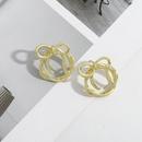 Korean linear braided bow simple earrings  NHJQ306129