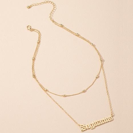 Simple fashion Sagittarius letter pendant necklace  NHAI306283's discount tags