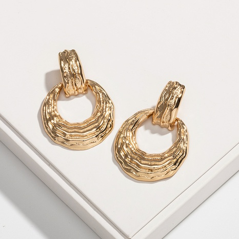 gold fashion simple earrings NHAI306298's discount tags