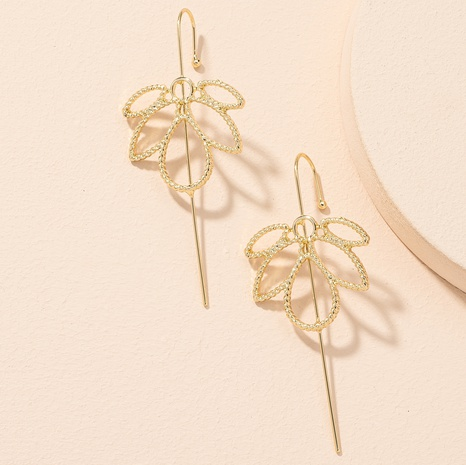 simple fashionable maple leaf earrings NHAI306303's discount tags