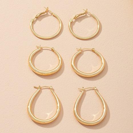 simple geometric hip hop earrings NHAI306318's discount tags