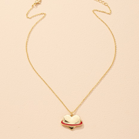 simple fashion heart pendant necklace NHAI306319's discount tags