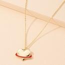 simple fashion heart pendant necklace NHAI306319