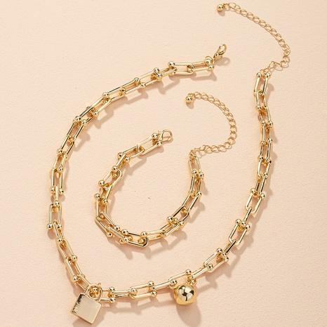 simple fashionable bracelet necklace set NHAI306324's discount tags