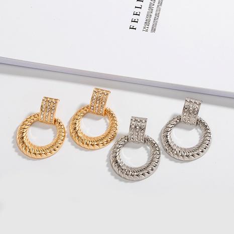 Mode Metall Diamant Retro Ohrringe NHAI306325's discount tags