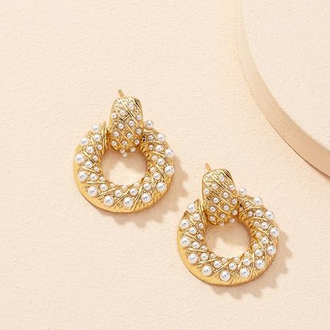 simple fashionable circle earrings NHAI306328's discount tags