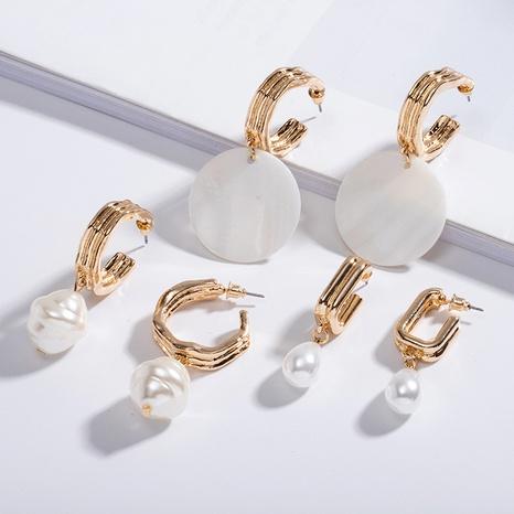 creative shell pearl earrings  NHAI306329's discount tags