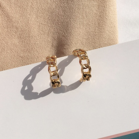 wholesale metal chain C-type simple earrings NHAI306330's discount tags
