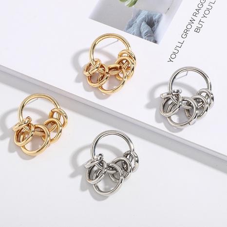 Retro-Ohrringe mit kleinem Kreis NHAI306335's discount tags