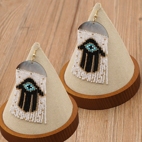 palm eyes retro ethnic shell tassel earrings NHGW306350's discount tags
