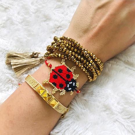 Mehrschichtiges Armband im ethnischen Stil mit Kristallperlen NHGW306355's discount tags