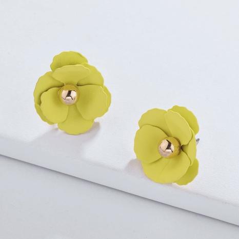 fashion spray paint color flower earrings NHLU306381's discount tags