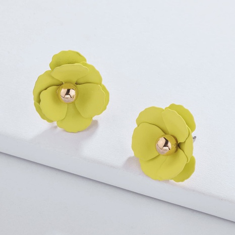 Mode Sprühfarbe Farbe Blumenohrringe NHLU306381's discount tags