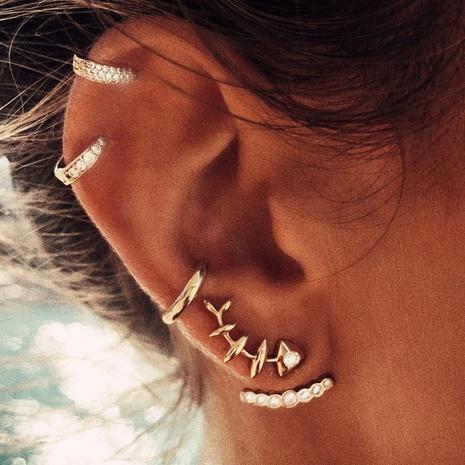 new four-piece creative retro full diamond ear clip NHPJ306394's discount tags