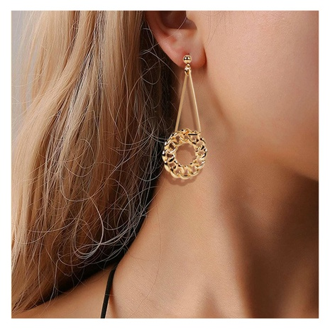 Retro style alloy geometric long earrings  NHCT306411's discount tags