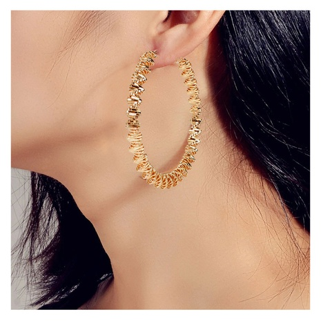 Retro alloy geometric earring  NHCT306413's discount tags