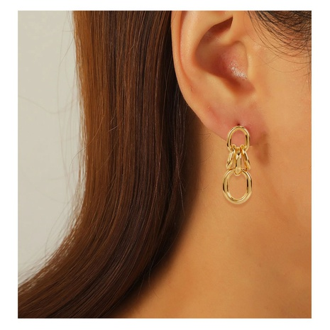 simple alloy circle earrings  NHCT306414's discount tags