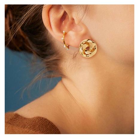 verdrehte Ohrringe aus Retro-Legierung NHCT306416's discount tags