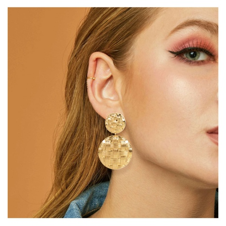 retro alloy geometric earrings NHCT306422's discount tags