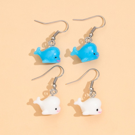 Simple cute resin soft dolphin earrings 2 pairs set NHPV306425's discount tags