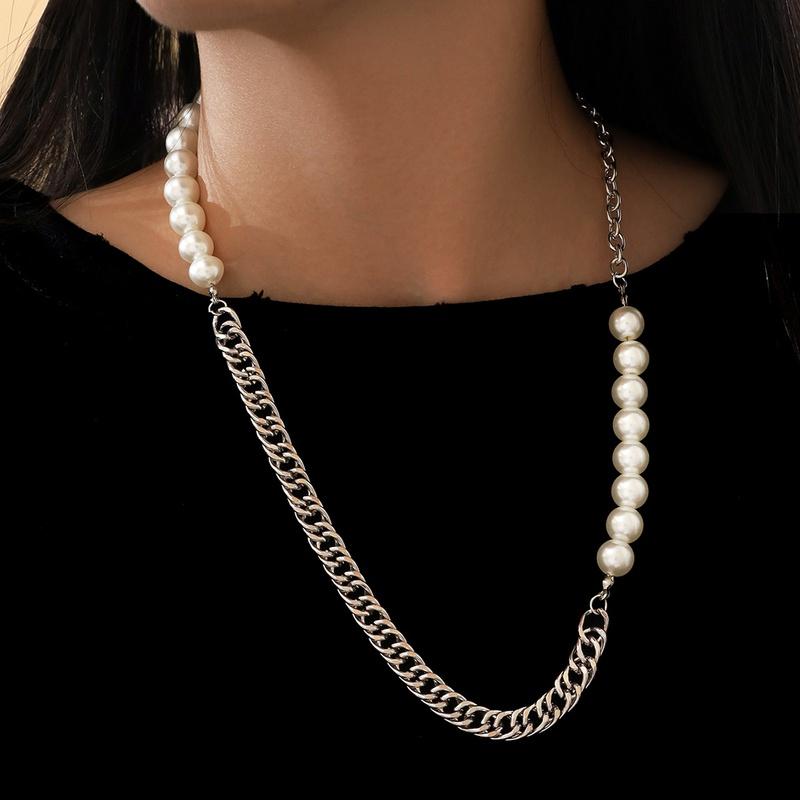 fashion elegant imitation large pearl necklace NHPV306427