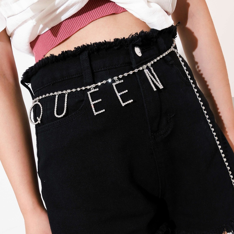 Simple Fashion Sexy Letter Queen Waist Chain NHPV306428