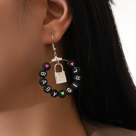 fashion Babygirl letter pendant earrings NHPV306434's discount tags