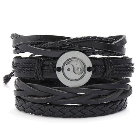 einfaches handgewebtes Klatschlederarmband NHPK306526's discount tags