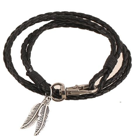 Mode neues handgewebtes ethnisches Lederarmband NHPK306528's discount tags