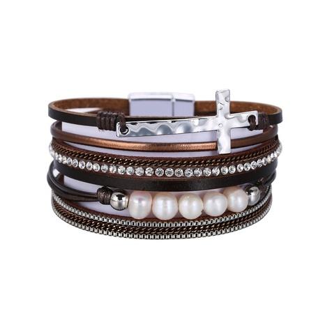 new bohemian PU leather bracelet  NHBD306538's discount tags