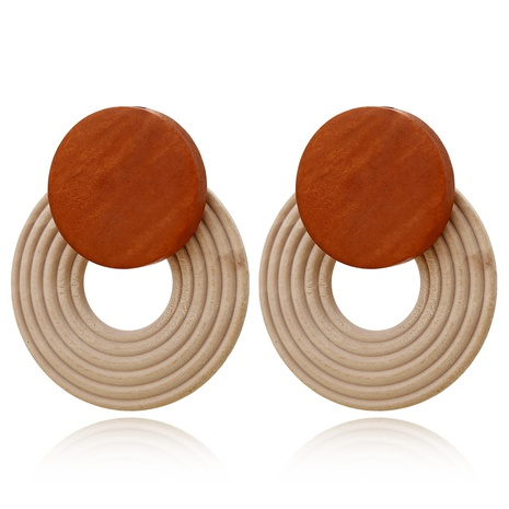 fashion circle wooden earrings  NHXI306545's discount tags