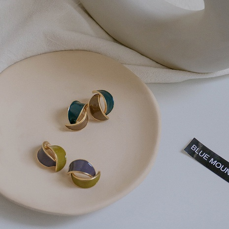 simple contrast color fashion earrings  NHXI306553's discount tags