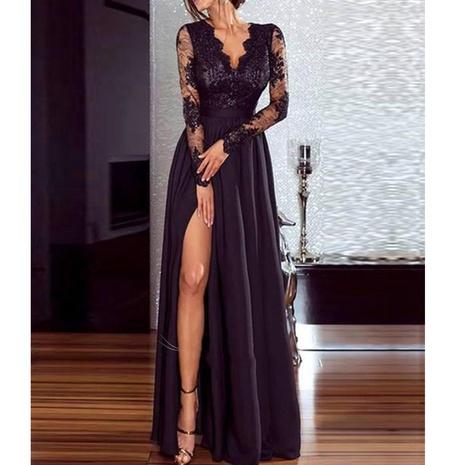 Robe longue en dentelle sexy nouvelle mode NHJG307317's discount tags