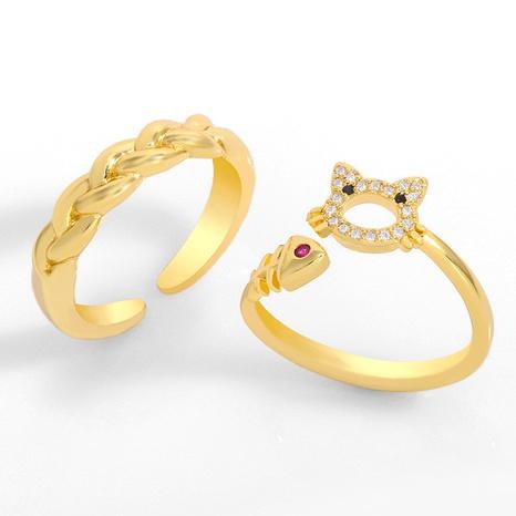 creative retro cat ring NHAS306658's discount tags