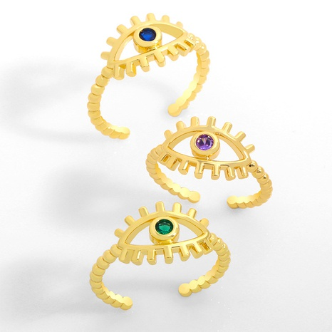 creative hip-hop demon eye open ring  NHAS306663's discount tags