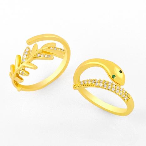 snake-shaped diamond fashion ring NHAS306664's discount tags