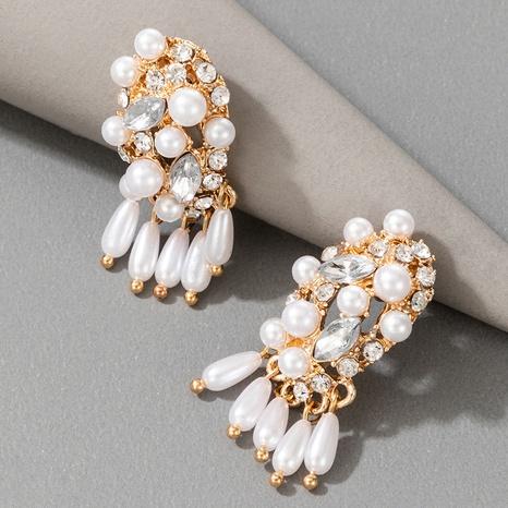 Vintage baroque pearl tassel earrings  NHGY306676's discount tags