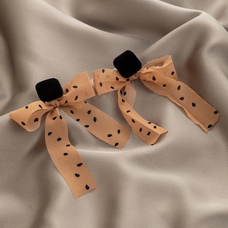 Pendientes de lazo de hilo de lunares de moda NHGY306677's discount tags
