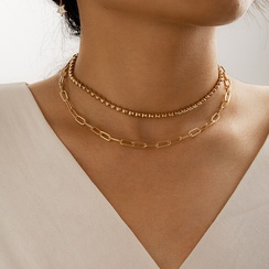 fashion simple multi-layer necklace  NHGY306680